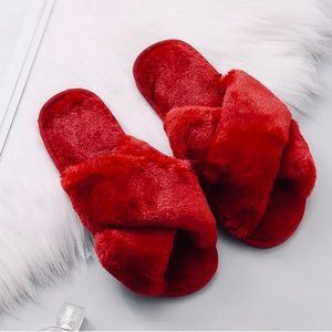 Last1 ❤️Quarantine Lounge Slippers in Red❤️